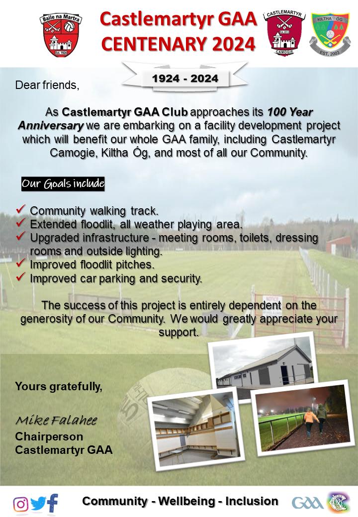 Castlemartyr GAA Centenary 2024 Membership